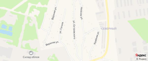 Улица Островского на карте Чебаркуля с номерами домов