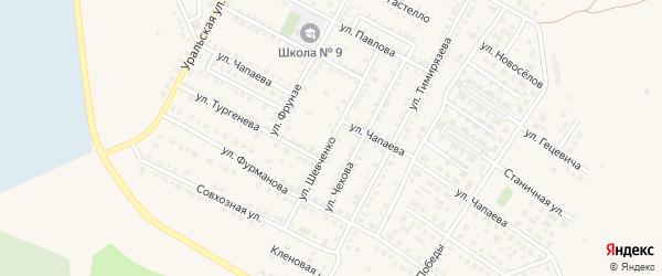Улица Шевченко на карте Чебаркуля с номерами домов