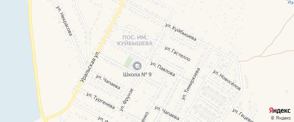 Улица Фрунзе на карте Чебаркуля с номерами домов