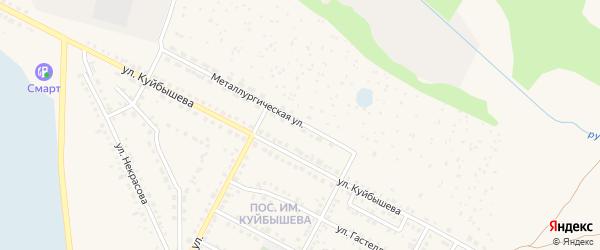 Металлургическая улица на карте Чебаркуля с номерами домов