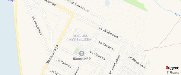 Улица Гастелло на карте Чебаркуля с номерами домов