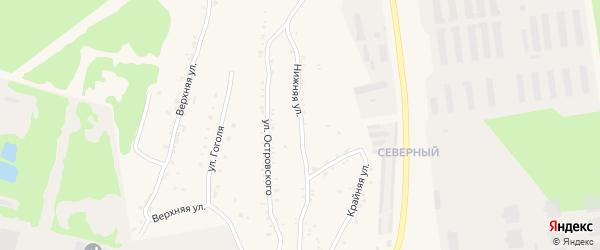 Нижняя улица на карте Чебаркуля с номерами домов