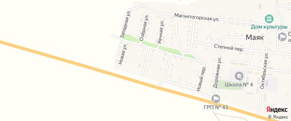 Молодежная улица на карте поселка Маяка с номерами домов