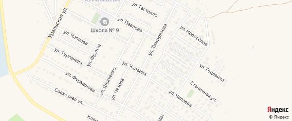 Улица Тимирязева на карте Чебаркуля с номерами домов