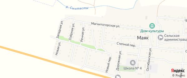 Цветочный переулок на карте поселка Маяка с номерами домов