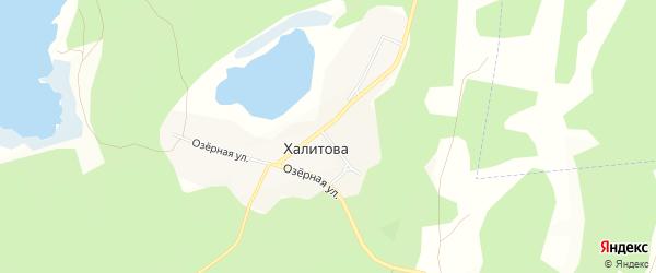 Карта деревни Халитова в Челябинской области с улицами и номерами домов