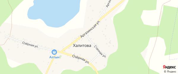Аргазинская улица на карте деревни Халитова с номерами домов