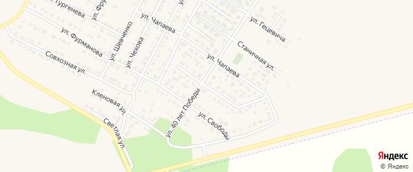Цветочный бульвар на карте Чебаркуля с номерами домов