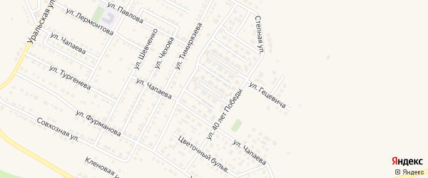 Рябиновый бульвар на карте Чебаркуля с номерами домов