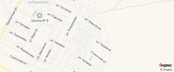Сиреневый бульвар на карте Чебаркуля с номерами домов