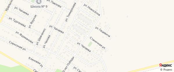 Улица 40 лет Победы на карте Чебаркуля с номерами домов