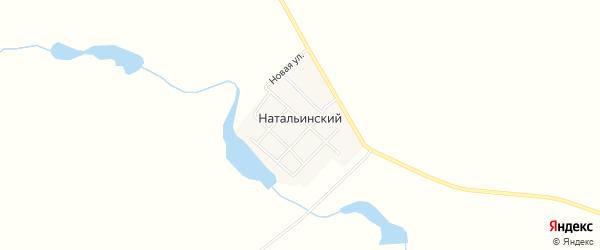 Карта Натальинского поселка в Челябинской области с улицами и номерами домов