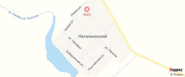 Набережная улица на карте Натальинского поселка с номерами домов