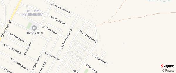 Улица Новоселов на карте Чебаркуля с номерами домов