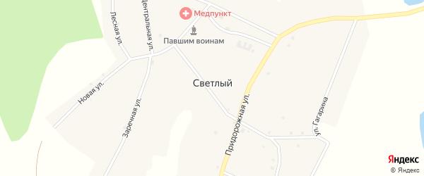 Школьный переулок на карте Светлого поселка с номерами домов