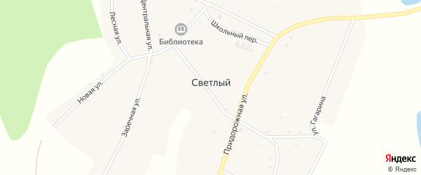 Зеленая улица на карте Светлого поселка с номерами домов