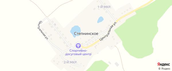 Центральная улица на карте Степнинского села с номерами домов