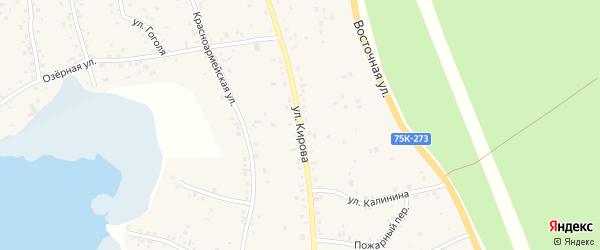 Улица Кирова на карте села Непряхино с номерами домов