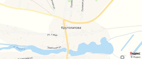 Заречная улица на карте деревни Крутолапова с номерами домов