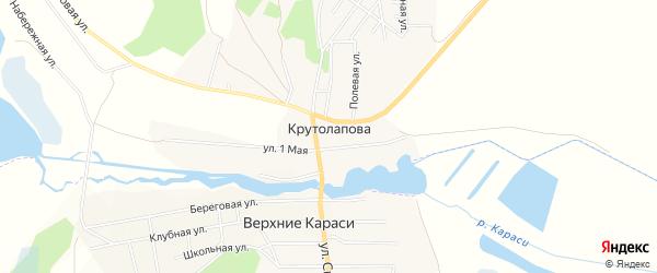 Карта деревни Крутолапова в Челябинской области с улицами и номерами домов