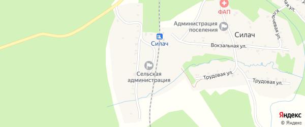 Путевая улица на карте поселка Силача с номерами домов