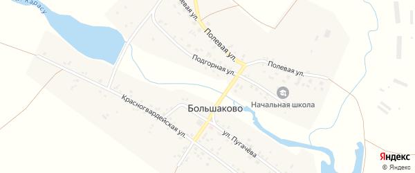 Подгорная улица на карте деревни Большаково с номерами домов