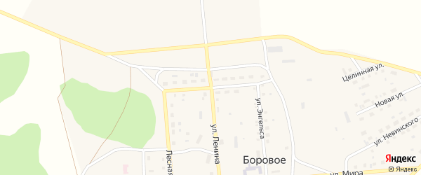 Юбилейная улица на карте Борового села с номерами домов