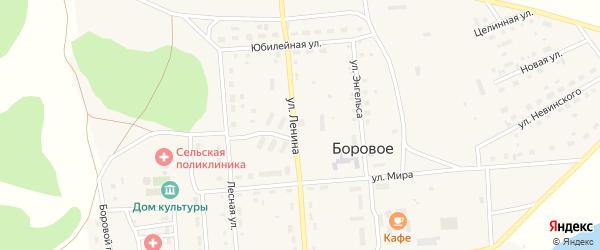 Улица Ленина на карте Борового села с номерами домов