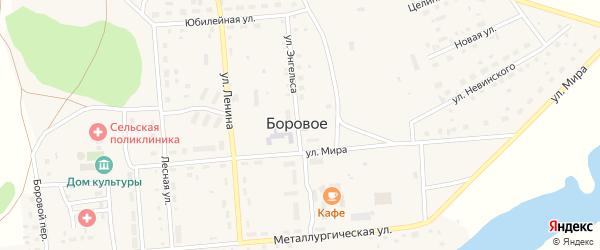 Улица Энгельса на карте Борового села с номерами домов
