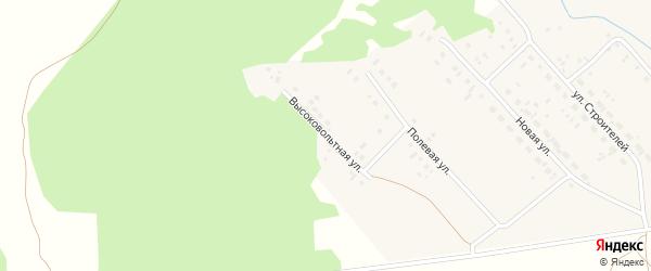 Высоковольтная улица на карте деревни Яраткулова с номерами домов