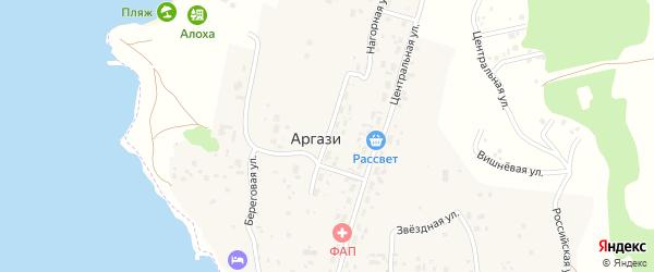 Нагорная улица на карте поселка Аргази с номерами домов
