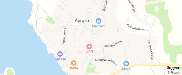 Уральский переулок на карте поселка Аргази с номерами домов