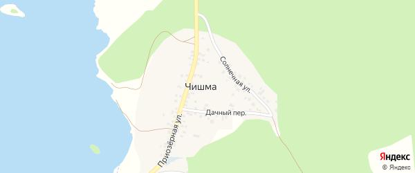 Приозерная улица на карте деревни Чишмы с номерами домов