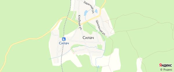 Карта поселка Силача города Верхнего Уфалея в Челябинской области с улицами и номерами домов