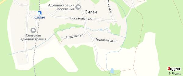 Трудовая улица на карте поселка Силача с номерами домов