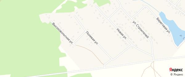 Полевая улица на карте деревни Яраткулова с номерами домов