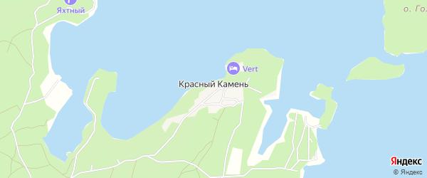 Карта поселка Красного Камня города Карабаша в Челябинской области с улицами и номерами домов