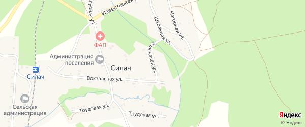 Ключевая улица на карте поселка Силача с номерами домов
