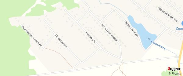Новая улица на карте деревни Яраткулова с номерами домов