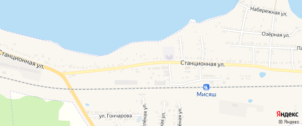 Станционная улица на карте Чебаркуля с номерами домов