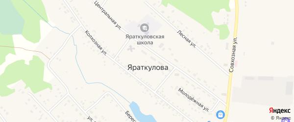 Центральная улица на карте деревни Яраткулова с номерами домов