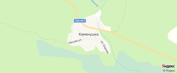 Карта поселка Каменушки города Верхнего Уфалея в Челябинской области с улицами и номерами домов