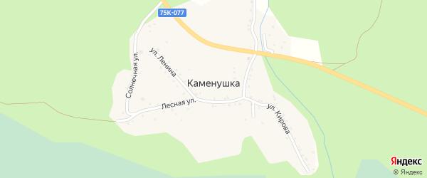 Солнечная улица на карте поселка Каменушки с номерами домов