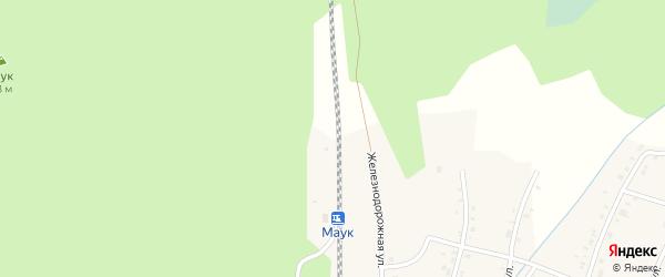Школьный переулок на карте железнодорожной станции Маук с номерами домов