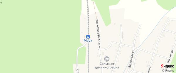 Переулок Мира на карте железнодорожной станции Маук с номерами домов