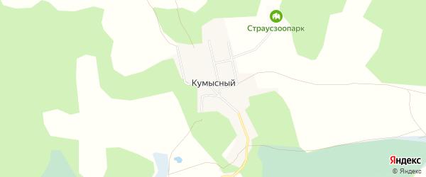 Карта Кумысного поселка в Челябинской области с улицами и номерами домов