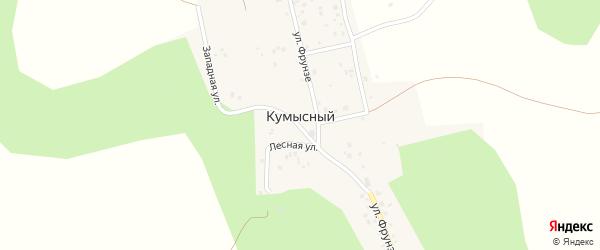 Западная улица на карте Кумысного поселка с номерами домов