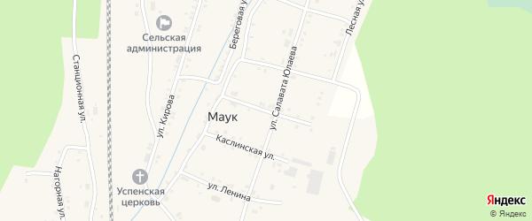 Улица Победы на карте железнодорожной станции Маук с номерами домов