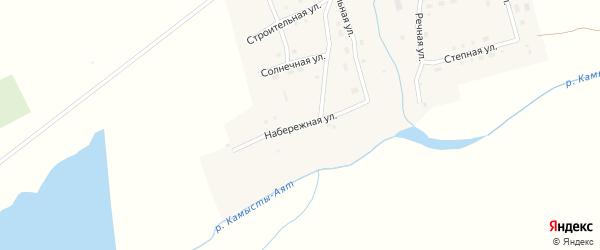 Набережная улица на карте Новогеоргиевского поселка с номерами домов