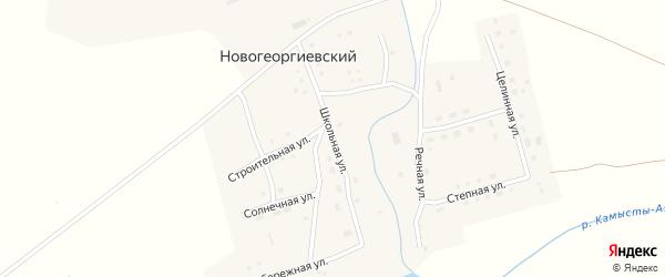 Школьная улица на карте Новогеоргиевского поселка с номерами домов